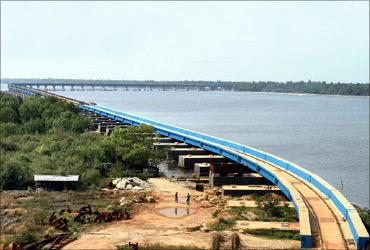 Vembanad Rail Bridge.