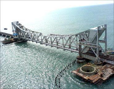 Pamban Bridge.