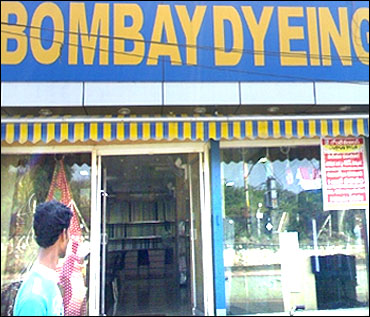 A Bombay Dyeing store in Hyderabad.