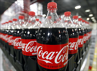 Bottles of Coca-Cola are seen in a warehouse at the Swire Coca-Cola facility in Draper.