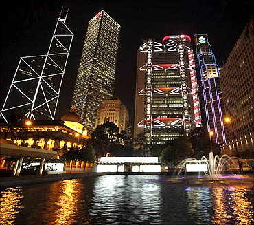 Hong Kong's central financial district.