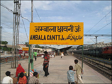 Ambala Cantonment Railway Station.