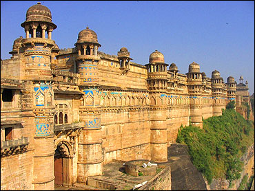 Maan Singh Palace at Gwalior fort.