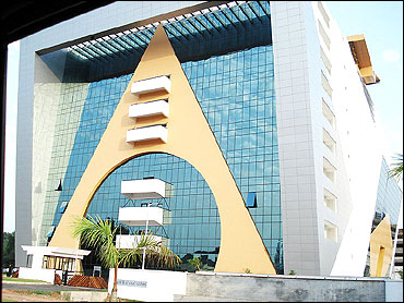 The Tejomaya building at InfoPark, Kochi.