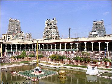 Meenakshi temple.