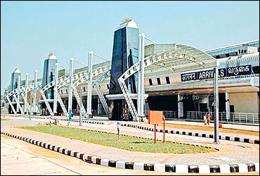 Trichy airport.