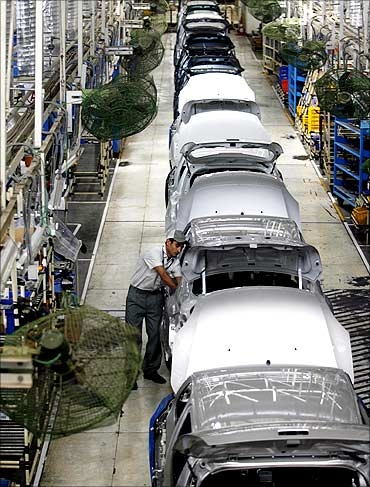Workers at the Maruti plant.