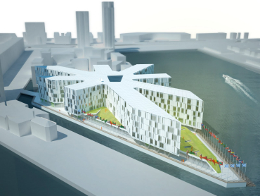 An artist's impression of the UN City in Copenhagen.