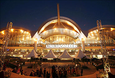 A view of the Sultan Hasanuddin airport in Makassar in Indonesia's South Sulawesi province.