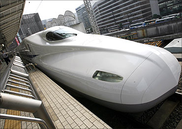 Japan Railway's N700 bullet train.