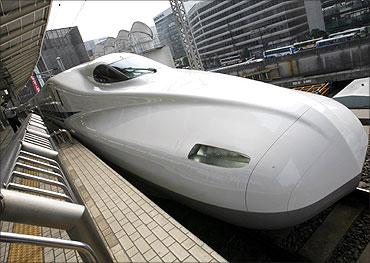 Japan Railway's N700 bullet train.
