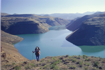 A lake in Lesotho.