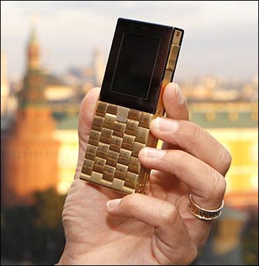 18-carat gold phone.
