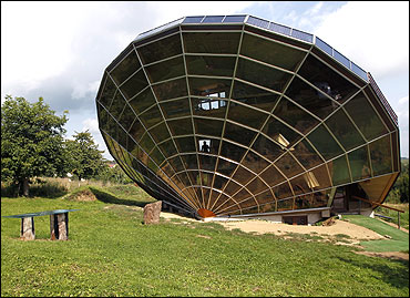 The Heliodome, a bioclimatic solar house in Cosswiller in the Alsacian countryside near Strasbourg, Eastern France.