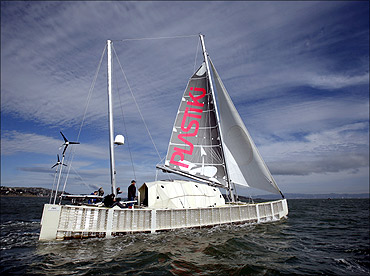 Plastiki, a 60-foot sailing catamaran.