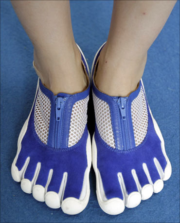 Toe-shaped shoes.