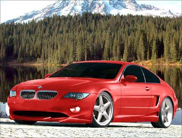 BMW sports car.