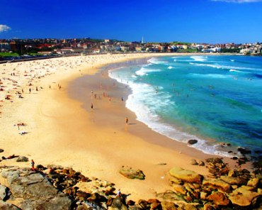 The Bondi Beach.