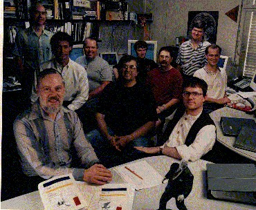 Dennis Ritchie with his team at Bell Labs
