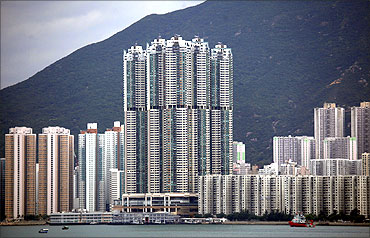 Five blocks of the 66-floor Grand Promenade.