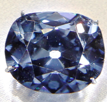 The 45.42 carat Hope Diamond is pictured on display at the Smithsonian National Museum of Natural History in Washington.