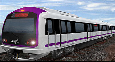 Bangalore's metro rail.