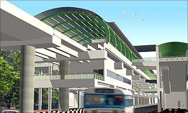 Bengaluru's swanky metro rail starts service