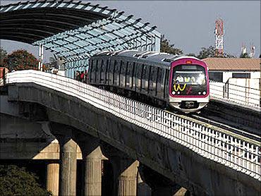 Bangalore's swanky metro rail.