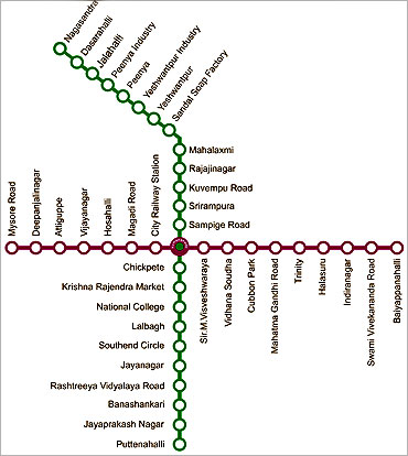 Metro route.