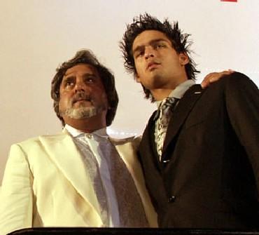 Vijya Mallya with Sidhartha