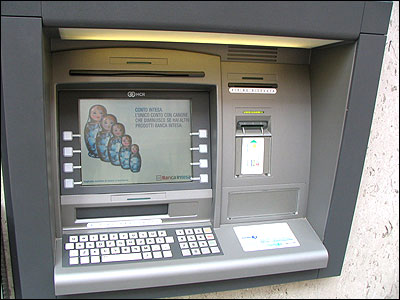 Now, ATMs can advertise financial products