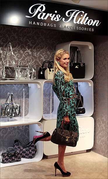 US socialite Paris Hilton in Mumbai.