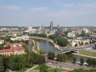 Vilnius, capital of Lithuania.
