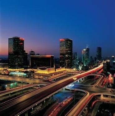 Beijing's glittering highways.