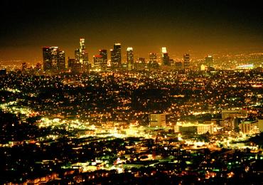 Glitzy Los Angeles.