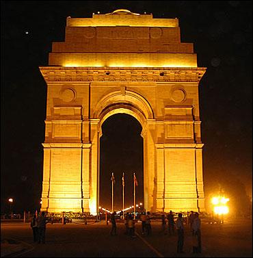 India Gate in New Delhi.