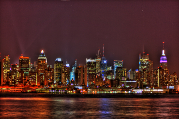 New York City comes alive at night.