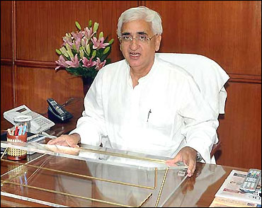 Union Law Minister Salman Khursheed.