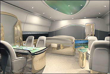 Amazing interiors of boeing 39 s business jet for Boeing 747 8 interieur