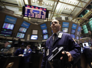 Fred Demarco works on the floor of the New York Stock Exchange.