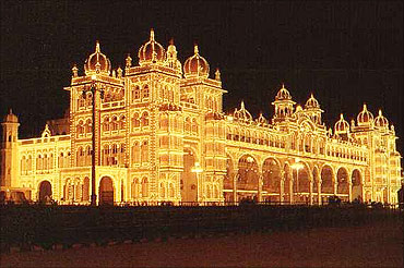 The Mysore Palace.