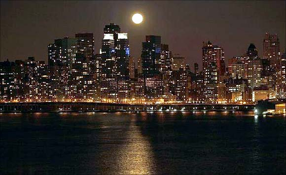 Skyline of Manhattan.
