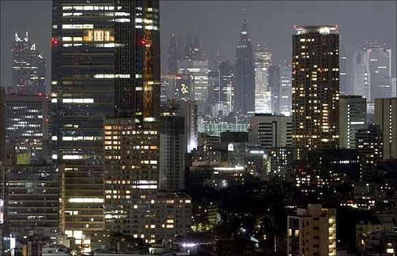 Tokyo's skyscrapers.