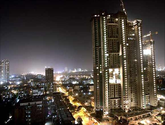 A high-rise building in Mumbai.