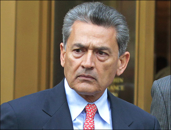 Rajat Gupta exits Manhattan Federal Court in New York.