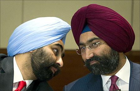 Malvinder and Shivinder Singh.