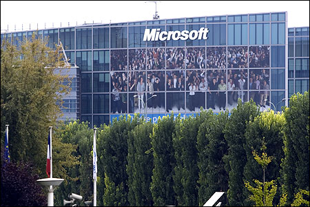 Microsoft Corporation' headquarters in Issy-les-Moulineaux, near Paris.
