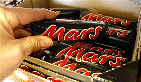 Mars chocolates.