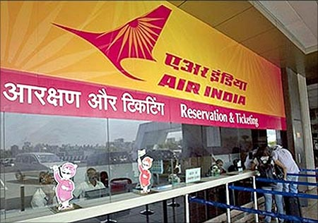 Air India ticketing counter.