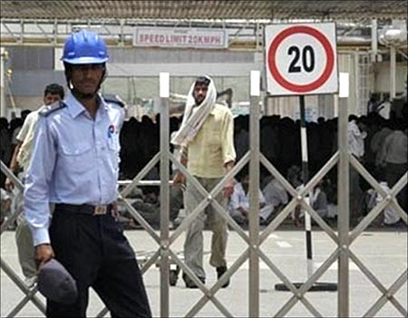 Workers at Maruti plant.